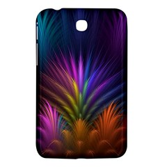 Colored Rays Symmetry Feather Art Samsung Galaxy Tab 3 (7 ) P3200 Hardshell Case