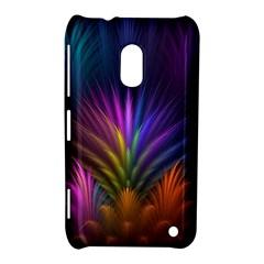 Colored Rays Symmetry Feather Art Nokia Lumia 620