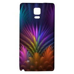 Colored Rays Symmetry Feather Art Galaxy Note 4 Back Case