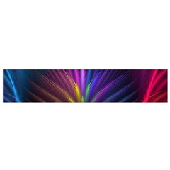 Colored Rays Symmetry Feather Art Flano Scarf (small)