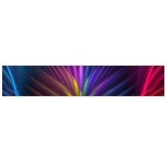 Colored Rays Symmetry Feather Art Flano Scarf (large)