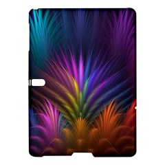 Colored Rays Symmetry Feather Art Samsung Galaxy Tab S (10 5 ) Hardshell Case