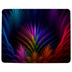 Colored Rays Symmetry Feather Art Jigsaw Puzzle Photo Stand (rectangular)