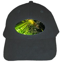 Electronics Machine Technology Circuit Electronic Computer Technics Detail Psychedelic Abstract Patt Black Cap