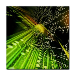 Electronics Machine Technology Circuit Electronic Computer Technics Detail Psychedelic Abstract Patt Tile Coasters