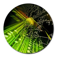 Electronics Machine Technology Circuit Electronic Computer Technics Detail Psychedelic Abstract Patt Round Mousepads