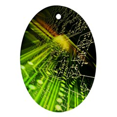 Electronics Machine Technology Circuit Electronic Computer Technics Detail Psychedelic Abstract Patt Ornament (oval)