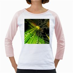 Electronics Machine Technology Circuit Electronic Computer Technics Detail Psychedelic Abstract Patt Girly Raglans