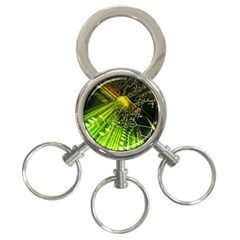 Electronics Machine Technology Circuit Electronic Computer Technics Detail Psychedelic Abstract Patt 3 Ring Key Chains