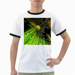 Electronics Machine Technology Circuit Electronic Computer Technics Detail Psychedelic Abstract Patt Ringer T Shirts