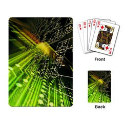 Electronics Machine Technology Circuit Electronic Computer Technics Detail Psychedelic Abstract Patt Playing Card
