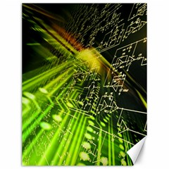 Electronics Machine Technology Circuit Electronic Computer Technics Detail Psychedelic Abstract Patt Canvas 12  X 16
