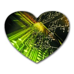 Electronics Machine Technology Circuit Electronic Computer Technics Detail Psychedelic Abstract Patt Heart Mousepads