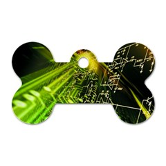 Electronics Machine Technology Circuit Electronic Computer Technics Detail Psychedelic Abstract Patt Dog Tag Bone (one Side)