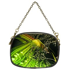 Electronics Machine Technology Circuit Electronic Computer Technics Detail Psychedelic Abstract Patt Chain Purses (one Side)