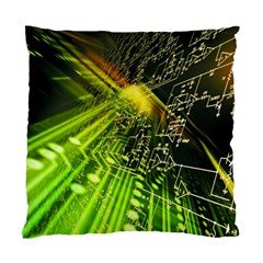 Electronics Machine Technology Circuit Electronic Computer Technics Detail Psychedelic Abstract Patt Standard Cushion Case (two Sides)