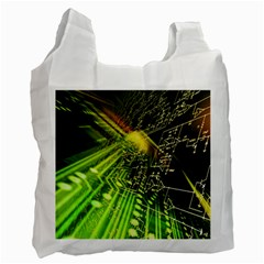Electronics Machine Technology Circuit Electronic Computer Technics Detail Psychedelic Abstract Patt Recycle Bag (one Side)