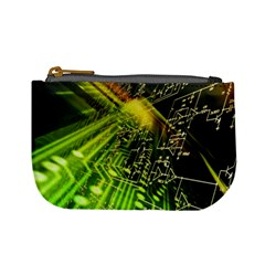 Electronics Machine Technology Circuit Electronic Computer Technics Detail Psychedelic Abstract Patt Mini Coin Purses