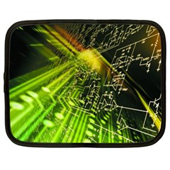 Electronics Machine Technology Circuit Electronic Computer Technics Detail Psychedelic Abstract Patt Netbook Case (xxl)