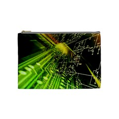 Electronics Machine Technology Circuit Electronic Computer Technics Detail Psychedelic Abstract Patt Cosmetic Bag (medium)