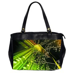 Electronics Machine Technology Circuit Electronic Computer Technics Detail Psychedelic Abstract Patt Office Handbags (2 Sides)