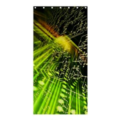Electronics Machine Technology Circuit Electronic Computer Technics Detail Psychedelic Abstract Patt Shower Curtain 36  X 72  (stall)