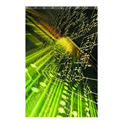 Electronics Machine Technology Circuit Electronic Computer Technics Detail Psychedelic Abstract Patt Shower Curtain 48  X 72  (small)
