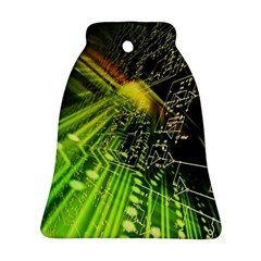 Electronics Machine Technology Circuit Electronic Computer Technics Detail Psychedelic Abstract Patt Ornament (bell)