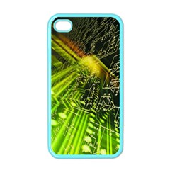 Electronics Machine Technology Circuit Electronic Computer Technics Detail Psychedelic Abstract Patt Apple Iphone 4 Case (color)
