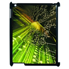 Electronics Machine Technology Circuit Electronic Computer Technics Detail Psychedelic Abstract Patt Apple Ipad 2 Case (black)