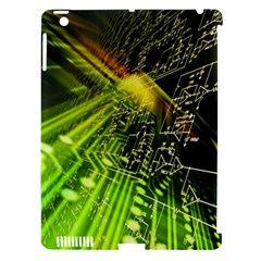 Electronics Machine Technology Circuit Electronic Computer Technics Detail Psychedelic Abstract Patt Apple Ipad 3/4 Hardshell Case (compatible With Smart Cover)