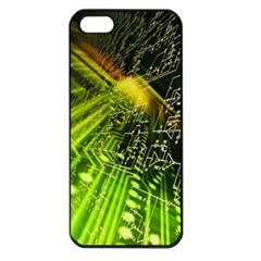 Electronics Machine Technology Circuit Electronic Computer Technics Detail Psychedelic Abstract Patt Apple Iphone 5 Seamless Case (black)