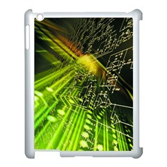 Electronics Machine Technology Circuit Electronic Computer Technics Detail Psychedelic Abstract Patt Apple Ipad 3/4 Case (white)