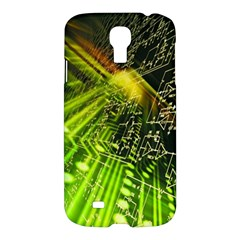Electronics Machine Technology Circuit Electronic Computer Technics Detail Psychedelic Abstract Patt Samsung Galaxy S4 I9500/i9505 Hardshell Case