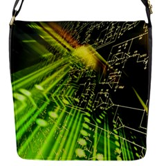 Electronics Machine Technology Circuit Electronic Computer Technics Detail Psychedelic Abstract Patt Flap Messenger Bag (s)
