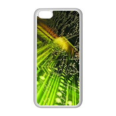 Electronics Machine Technology Circuit Electronic Computer Technics Detail Psychedelic Abstract Patt Apple Iphone 5c Seamless Case (white)