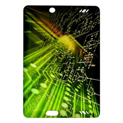 Electronics Machine Technology Circuit Electronic Computer Technics Detail Psychedelic Abstract Patt Amazon Kindle Fire Hd (2013) Hardshell Case