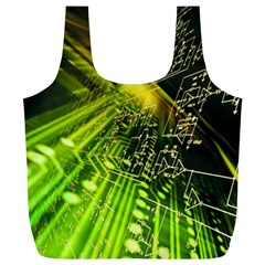 Electronics Machine Technology Circuit Electronic Computer Technics Detail Psychedelic Abstract Patt Full Print Recycle Bags (l)