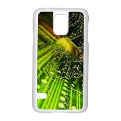 Electronics Machine Technology Circuit Electronic Computer Technics Detail Psychedelic Abstract Patt Samsung Galaxy S5 Case (white)