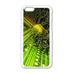 Electronics Machine Technology Circuit Electronic Computer Technics Detail Psychedelic Abstract Patt Apple Iphone 6/6s White Enamel Case