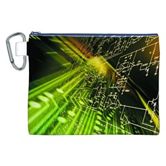 Electronics Machine Technology Circuit Electronic Computer Technics Detail Psychedelic Abstract Patt Canvas Cosmetic Bag (xxl)