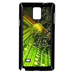 Electronics Machine Technology Circuit Electronic Computer Technics Detail Psychedelic Abstract Patt Samsung Galaxy Note 4 Case (black)