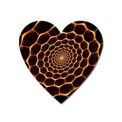 Honeycomb Art Heart Magnet