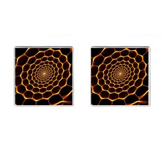 Honeycomb Art Cufflinks (square)