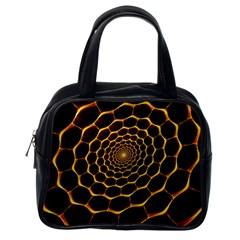 Honeycomb Art Classic Handbags (one Side)