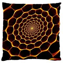 Honeycomb Art Large Cushion Case (one Side)