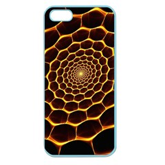 Honeycomb Art Apple Seamless Iphone 5 Case (color)