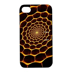 Honeycomb Art Apple Iphone 4/4s Hardshell Case With Stand