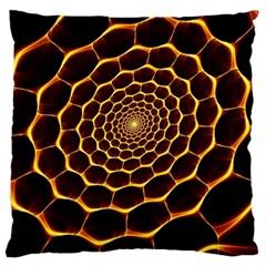 Honeycomb Art Large Flano Cushion Case (one Side)