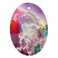 Clouds Multicolor Fantasy Art Skies Ornament (oval)